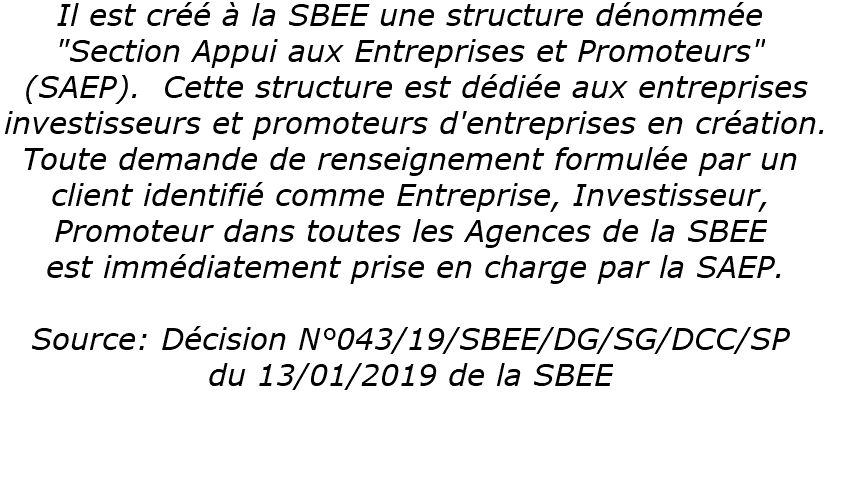 Décision SBEE